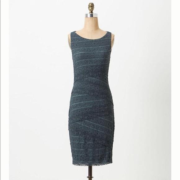 Bailey 44 Tiered Layered Blue Lace Dress Size Xs